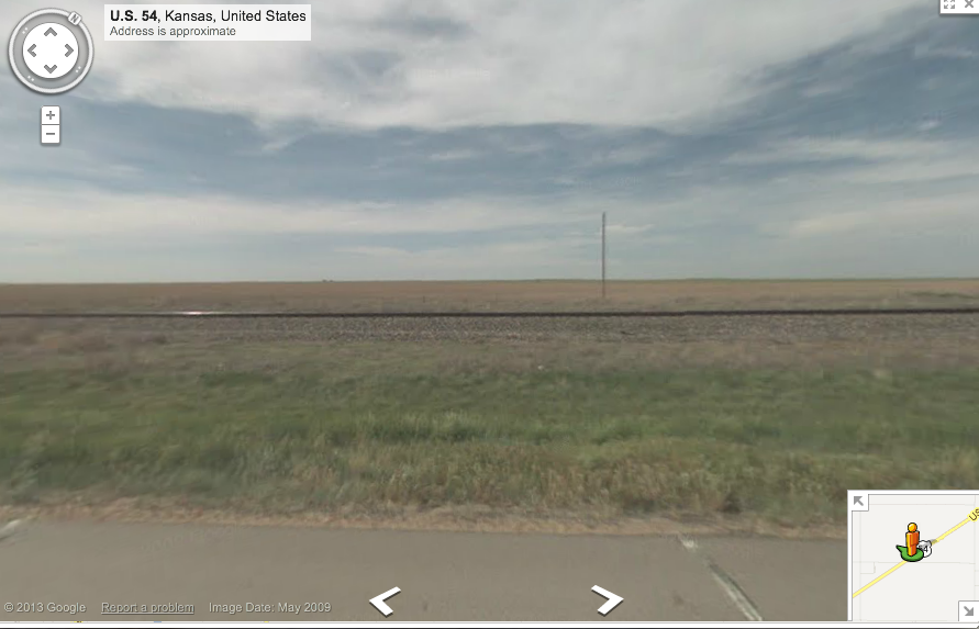 Near Liberal, Kansas. Via Google Maps