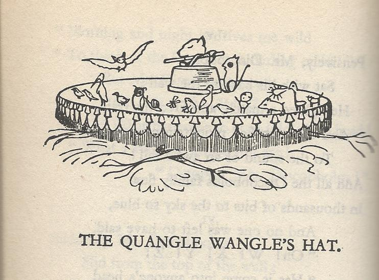 """Not quite sure what it is about nonsense poetry and beavers, but the opening lines go like this: """"On the top of the Crumpetty Tree / The Quangle Wangle sat, / But his face you could not see, / On account of his Beaver Hat."""""""